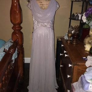 NWT Beautiful silver formal gown